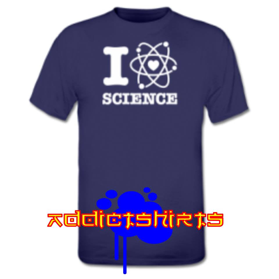 I Love Science T-shirt | Blasted Rat