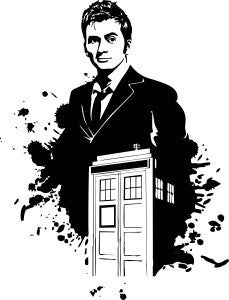 10th Doctor Who Tardis | Die Cut Vinyl Sticker Decal | Blasted Rat