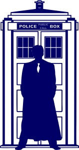 10th Doctor Who Silhouette Tardis | Die Cut Vinyl Sticker Decal | Blasted Rat