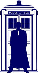 10th Dr Who Silhouette Tardis | Die Cut Vinyl Sticker Decal | Blasted Rat