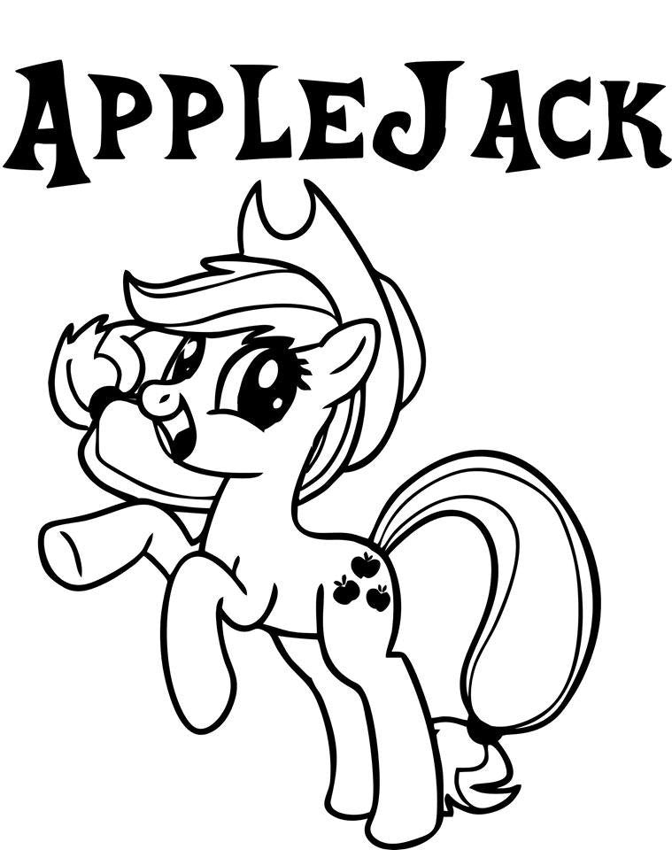 My Little Pony Applejack - Die Cut Vinyl Sticker Decal