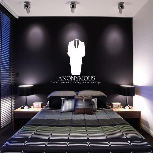 Anonymous we are legion 23 die cut vinyl wall decal sticker