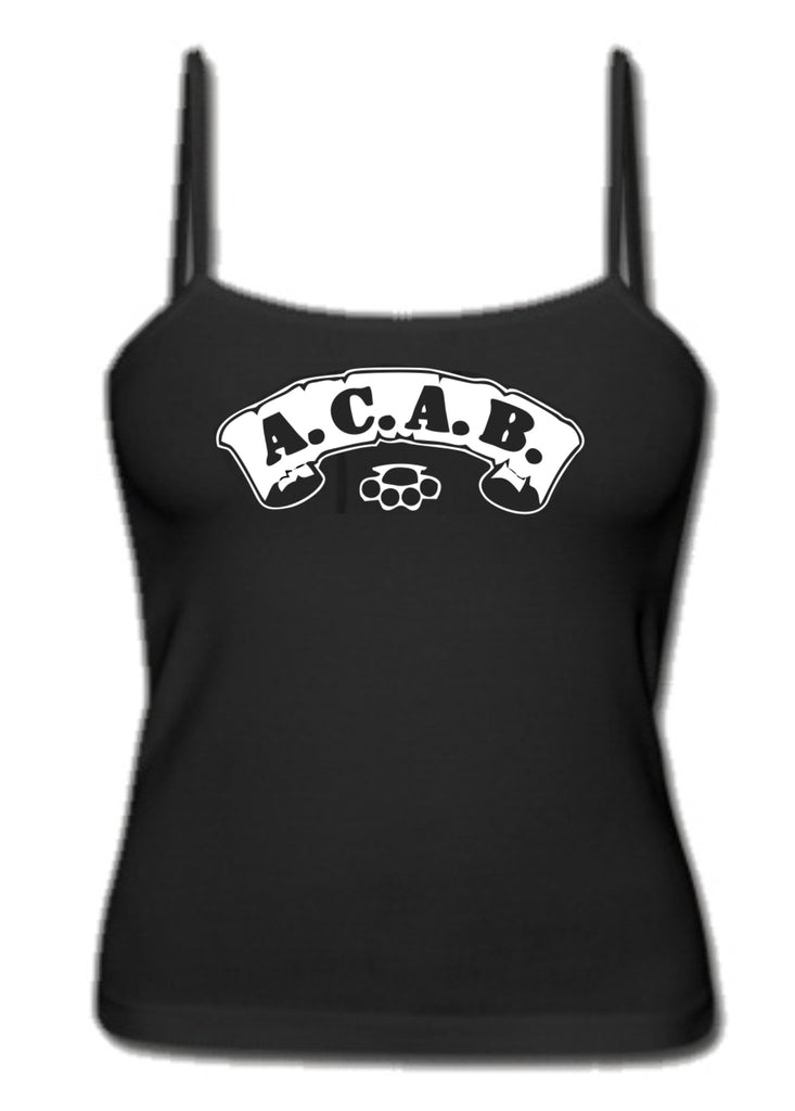 ACAB Scroll with Brass Knuckles A.C.A.B. Girl's Singlet