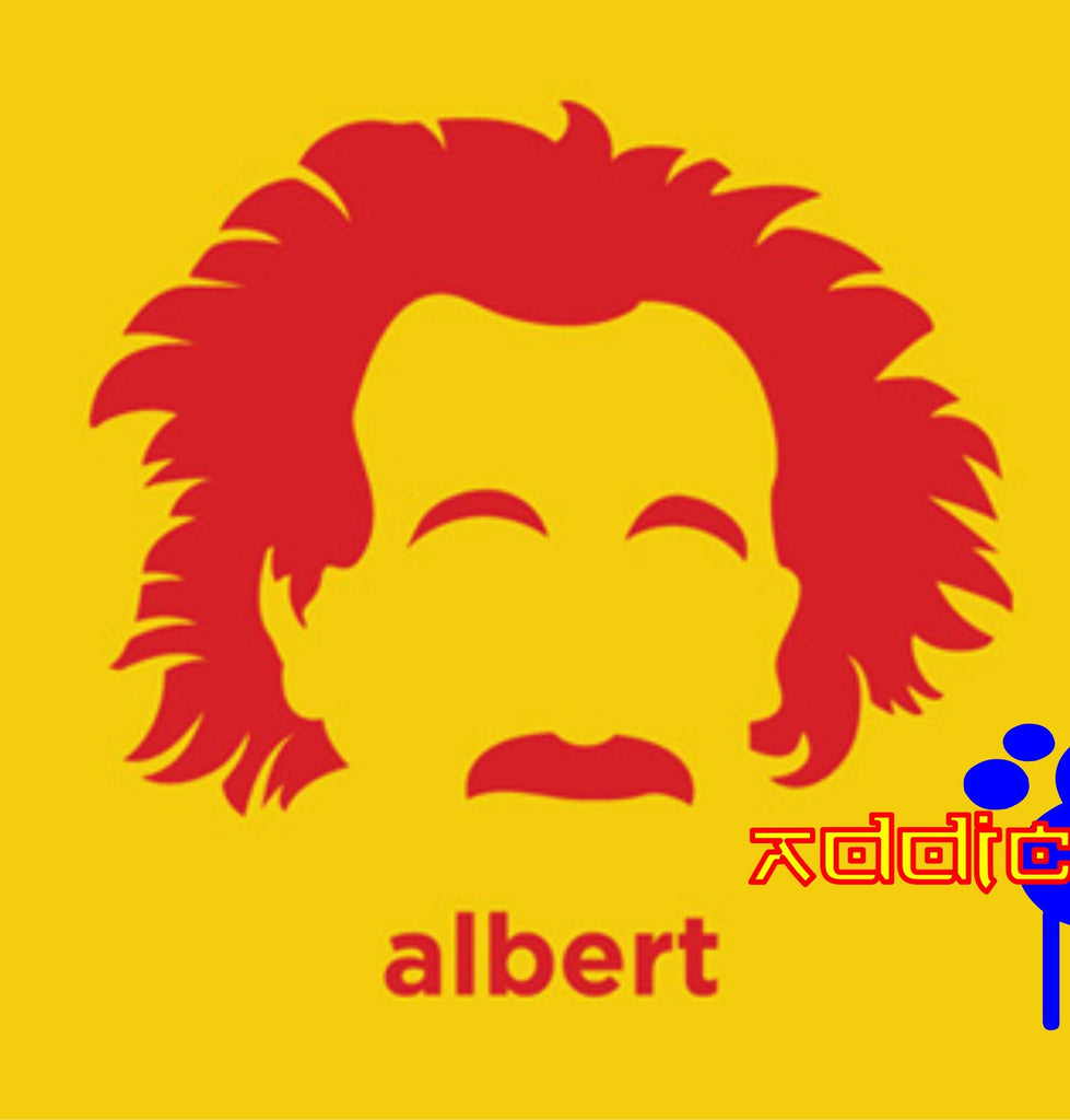 Albert Einstein - Die Cut Vinyl Sticker Decal