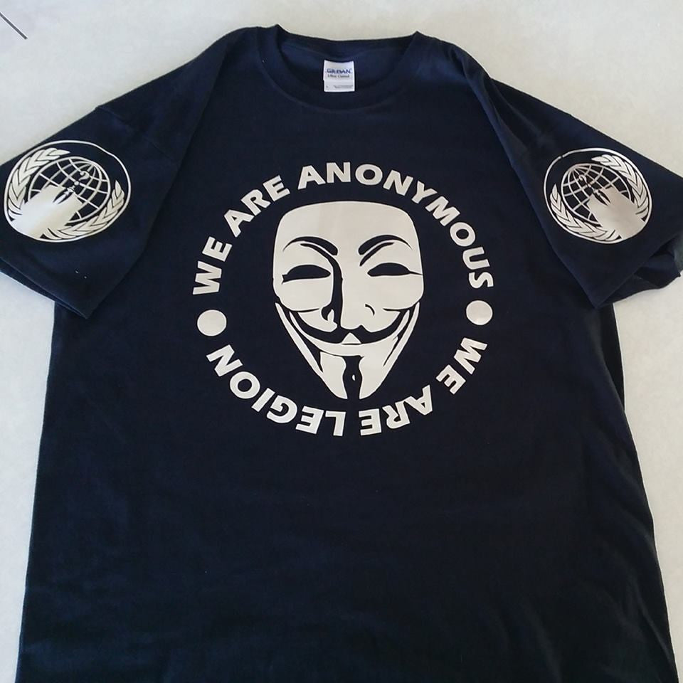 Anonymous Chrome We Are Legion T-shirt | Blasted Rat