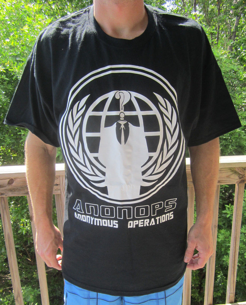 Anonymous Operations AnonOps Crest T-shirt