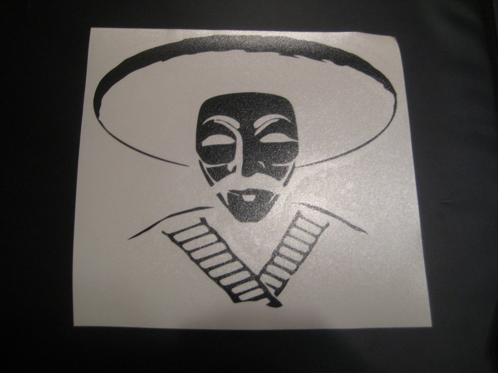 Anonymous Bandito with Bullet Belt Die Cut Vinyl Sticker Decal