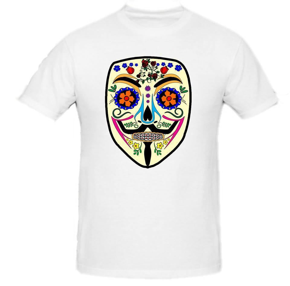 Day of the Dead Anonymous Yellow Mask T-shirt | Blasted Rat