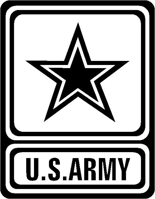 u s army die cut vinyl sticker decal blasted rat rh blastedrat com us army vehicle clipart us army equipment clipart