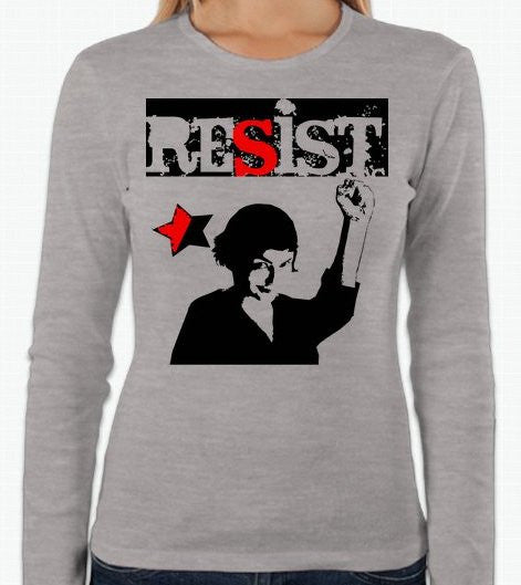 Audrey Tautou Amelie Anarchist Resist Long Sleeve T-shirt | Blasted Rat