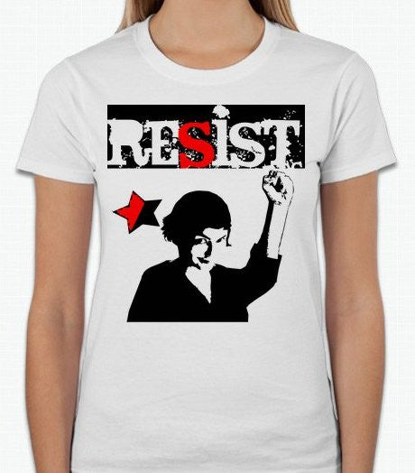Audrey Tautou Amelie Anarchist Resist T-shirt | Blasted Rat