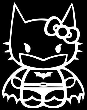Batman Hello Kitty - Die Cut Vinyl Sticker Decal