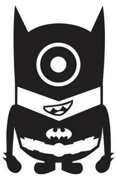 Despicable Me Batman Minion - Die Cut Vinyl Sticker Decal