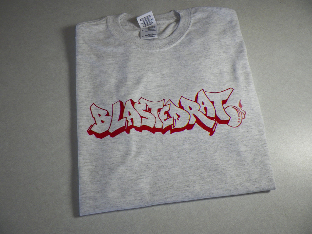 BlastedRat Red Graffiti Wildstyle T-Shirt