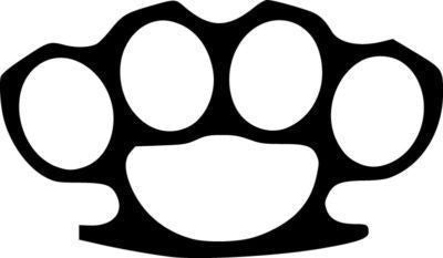Brass Knuckles JDM Racing | Die Cut Vinyl Sticker Decal | Blasted Rat