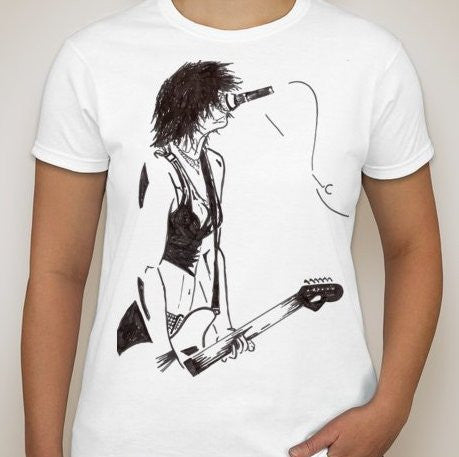 Brody Dalle On Stage Art T-shirt | Blasted Rat
