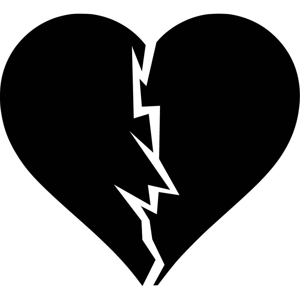 Broken heart - Die Cut Vinyl Sticker Decal