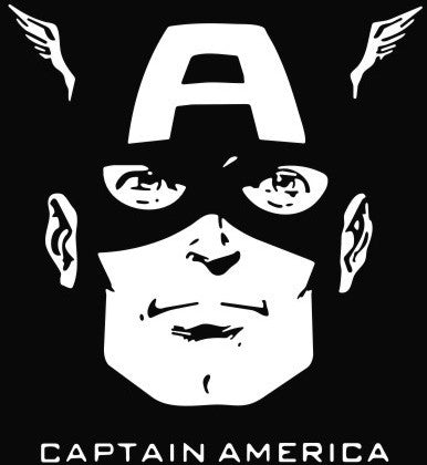 Captain America - Die Cut Vinyl Sticker Decal