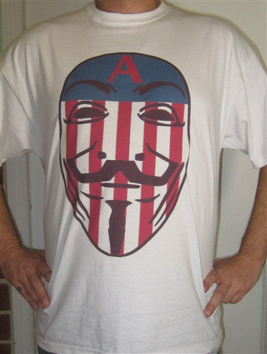 Captain Anonymous T-shirt | Blasted Rat