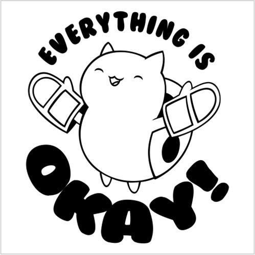 Catbug cooking, Bravest Warriors Everything Is Okay Kitchen Baking Die Cut Vinyl Sticker Decal