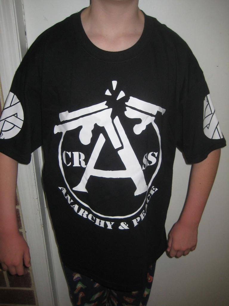 Crass Anarchy and Peace with Sleeve Logos T-shirt | Blasted Rat