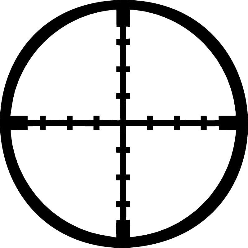 Crosshair, military - Die Cut Vinyl Sticker Decal