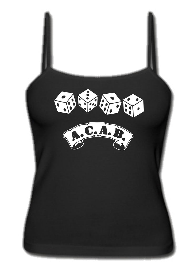 ACAB Scroll with Dice A.C.A.B. Women's Tank Top Singlet