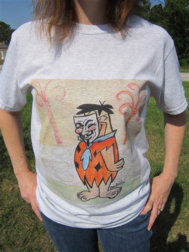 Anonymous Fred Flinstone T-shirt | Dan Bellini Occupy Art | Blasted Rat
