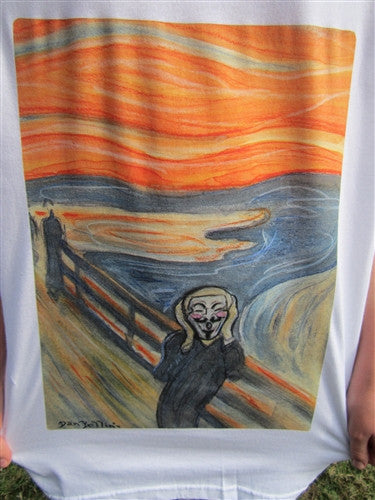Anonymous Scream T-shirt | Dan Bellini Occupy Art | Blasted Rat
