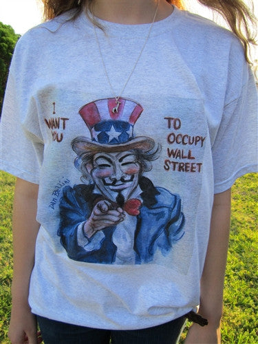 Anonymous Uncle Sam T-shirt | Dan Bellini Occupy Art | Blasted Rat