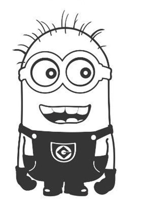 Despicable Me Smiling Arms Down Minion - Die Cut Vinyl Sticker Decal