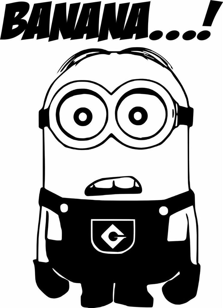 Despicable Me Banana...! Minion - Die Cut Vinyl Sticker Decal