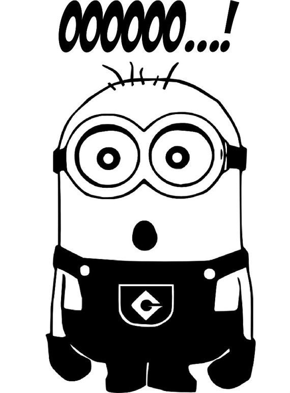 Despicable Me OOOOOO...! Minion  - Die Cut Vinyl Sticker Decal