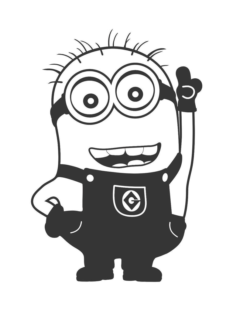 Despicable Me Pick Me! Volunteer Minion  - Die Cut Vinyl Sticker Decal