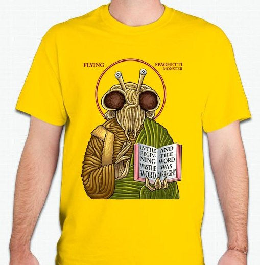 Flying Spaghetti Monster Icon T-shirt | Blasted Rat