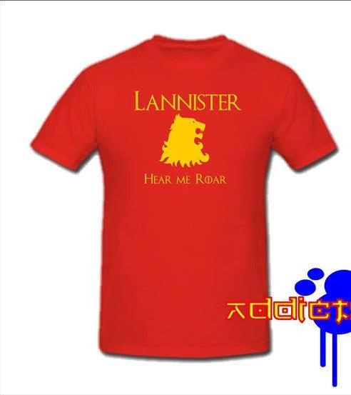 Game of Thrones Lannister Hear Me Roar T-shirt