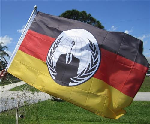 Anonymous Germany Large Flag 5x3 feet