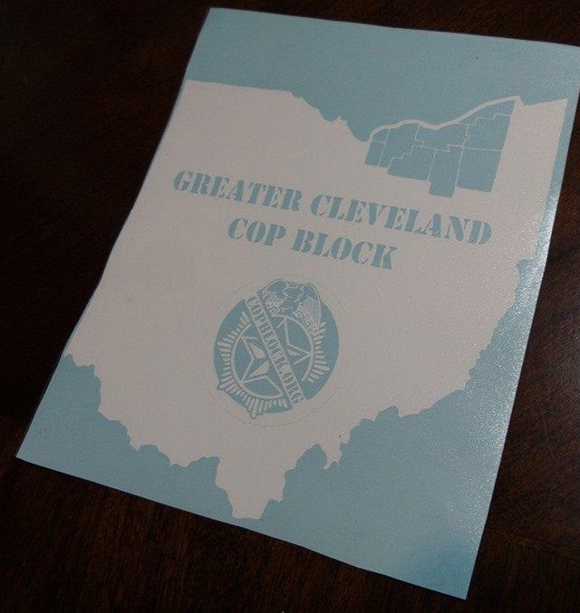 CopBlock Greater Cleveland | Die Cut Vinyl Sticker Decal