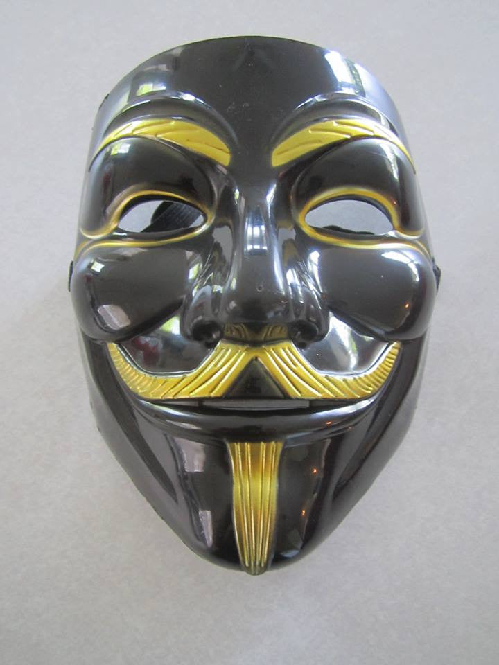 Metallic-Looking Guy Fawkes Anonymous Mask