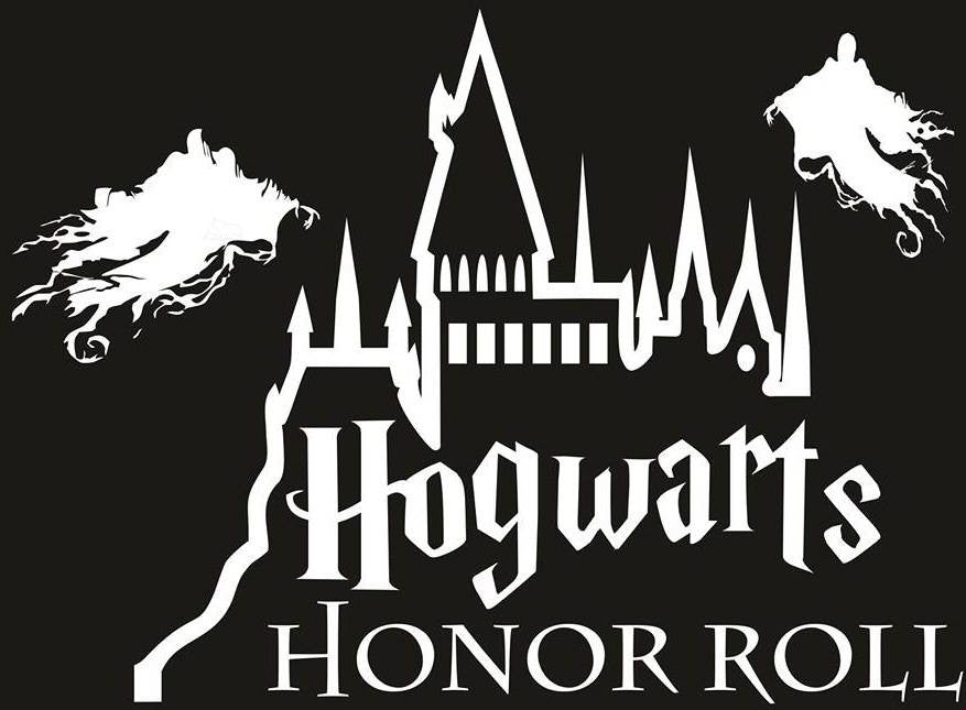 Harry Potter Hogwarts Honor Roll | Die Cut Vinyl Sticker Decal | Blasted Rat