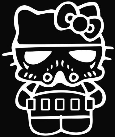 Hello Kitty Stormtrooper - Die Cut Vinyl Sticker Decal