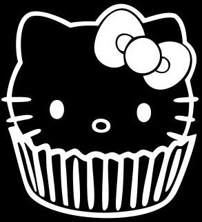 Hello Kitty Cupcake - Die Cut Vinyl Sticker Decal