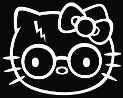 Hello Kitty Harry Potter - Die Cut Vinyl Sticker Decal