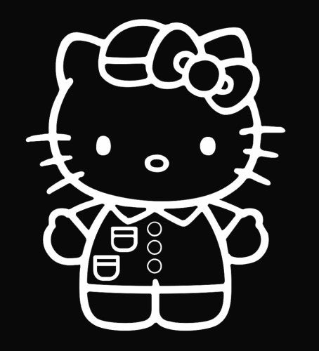 Hello Kitty Nurse in Scrubs - Die Cut Vinyl Sticker Decal
