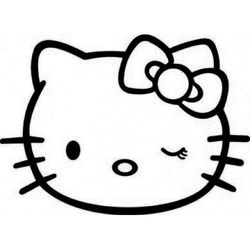 Hello Kitty Winking - Die Cut Vinyl Sticker Decal