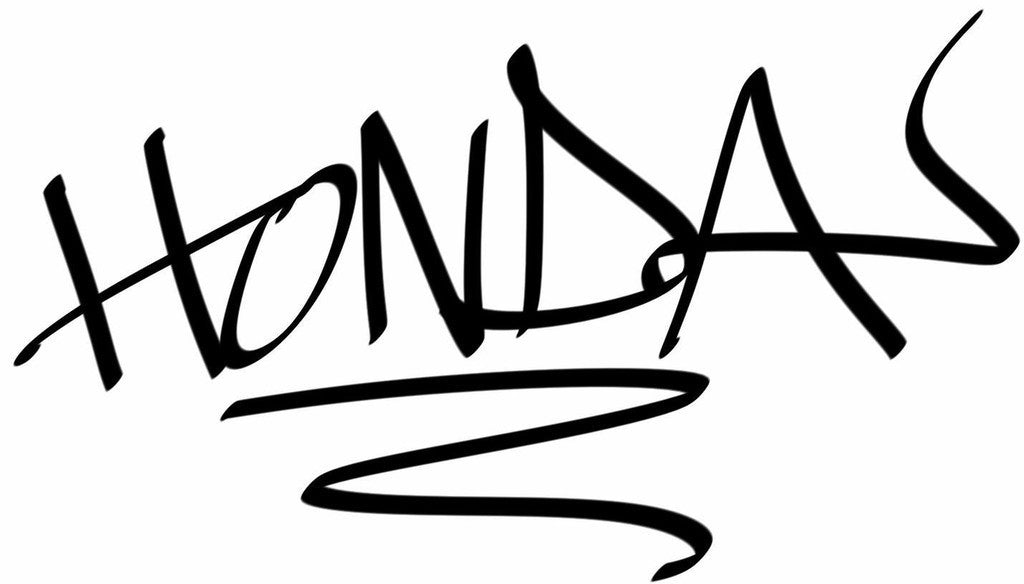 Honda Hand Style Graffiti JDM Racing | Die Cut Vinyl Sticker Decal | Blasted Rat