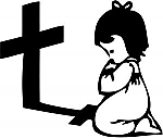 Child Praying With Cross JDM Racing | Die Cut Vinyl Sticker Decal