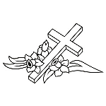 Cross With Flowers Grave JDM Racing | Die Cut Vinyl Sticker Decal