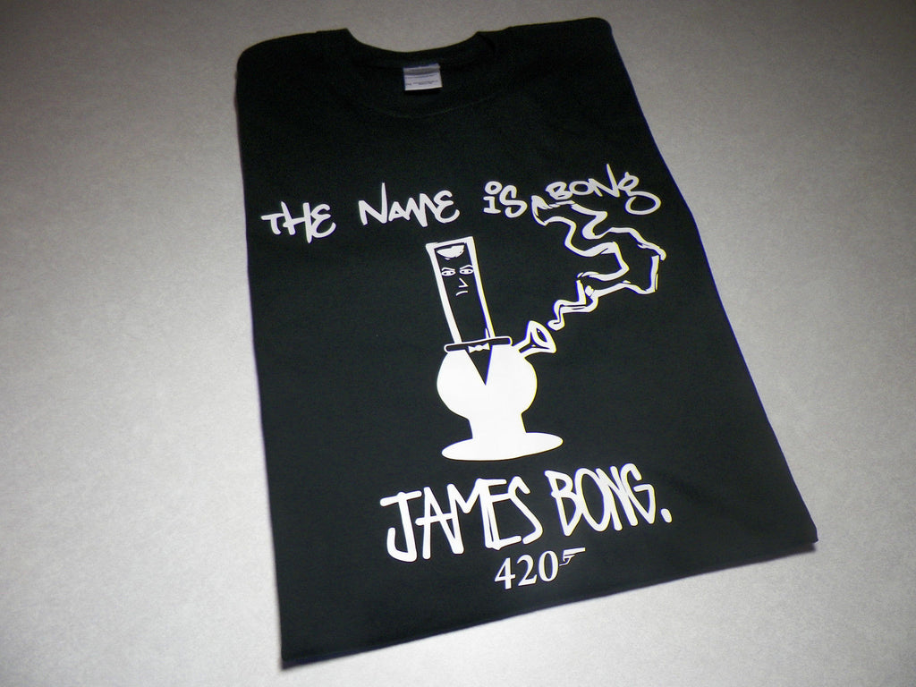 James Bong 007 420 Weed Smokers Marijuana T-shirt
