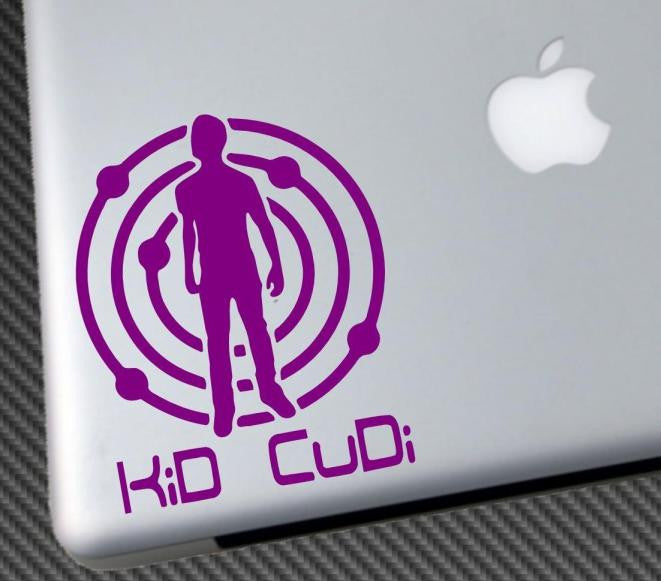 Kid Cudi Man on Moon |  Die Cut Vinyl Sticker Decal | Blasted Rat